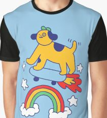 Dog Flying On A Skateboard Graphic T-Shirt