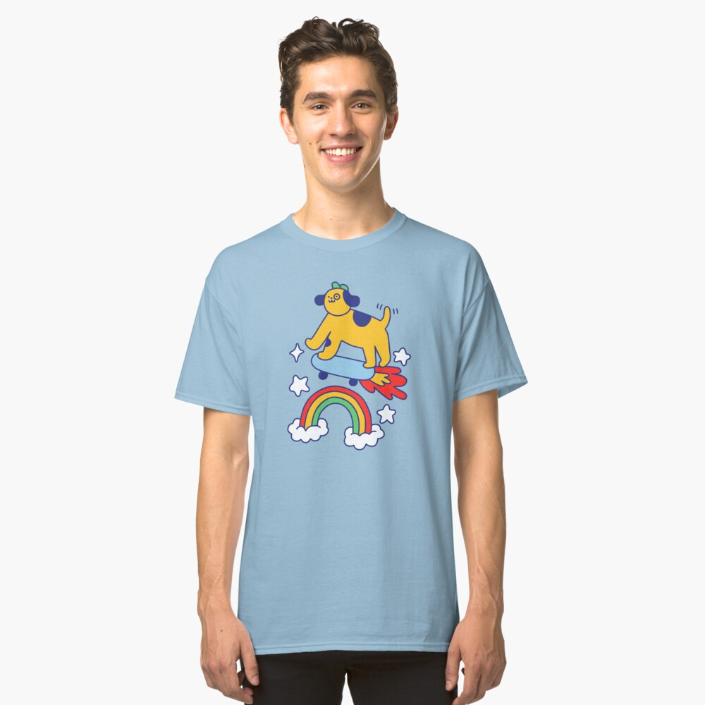 Dog Flying On A Skateboard Classic T-Shirt