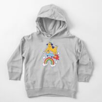 Dog Flying On A Skateboard Toddler Pullover Hoodie