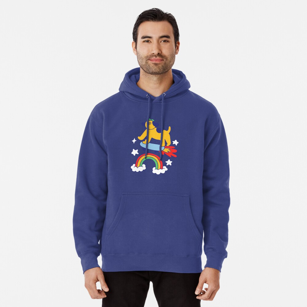 Dog Flying On A Skateboard Pullover Hoodie