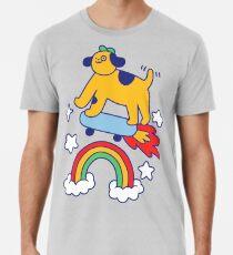 Dog Flying On A Skateboard Premium T-Shirt