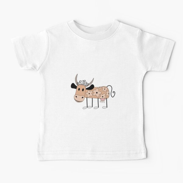 Happy Vibrations My Little Cow Baby T-Shirt