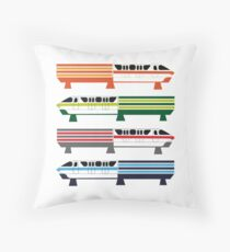 The Monorail System Throw Pillow