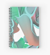 Coral Coloured Smoke Spiral Notebook
