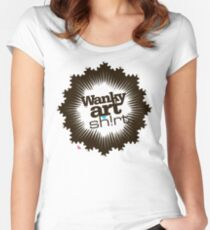 Just another WANKY ART SHIRT! Women's Fitted Scoop T-Shirt
