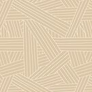 Crossing Lines in Beige by latheandquill