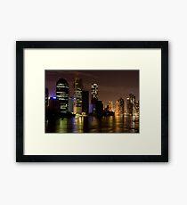 Brisbane City at Night Framed Print