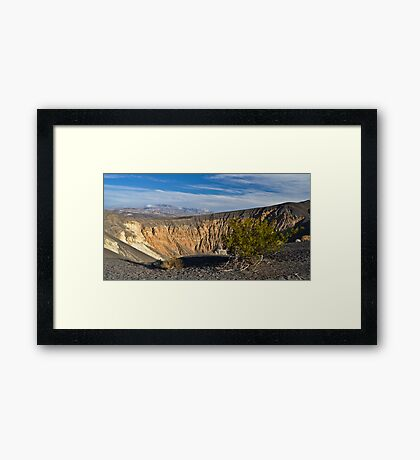 The Bush and The Crater Framed Print