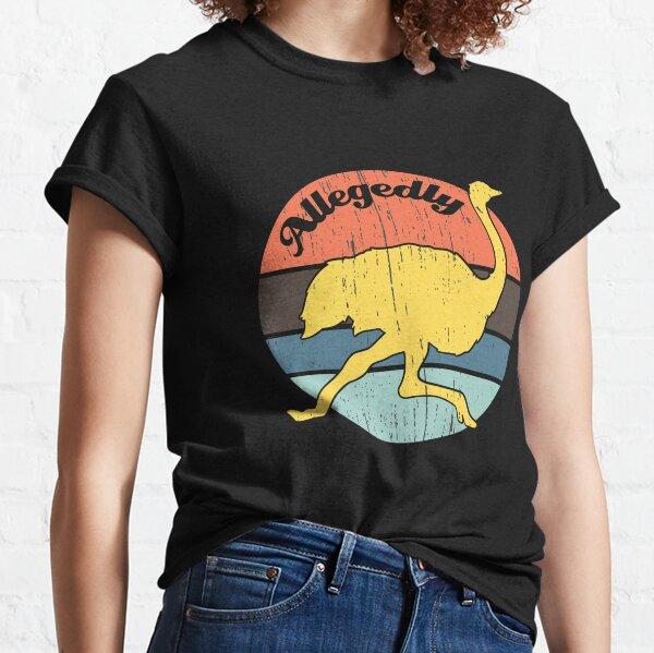 Conception prétendue vintage d'autruche T-shirt classique