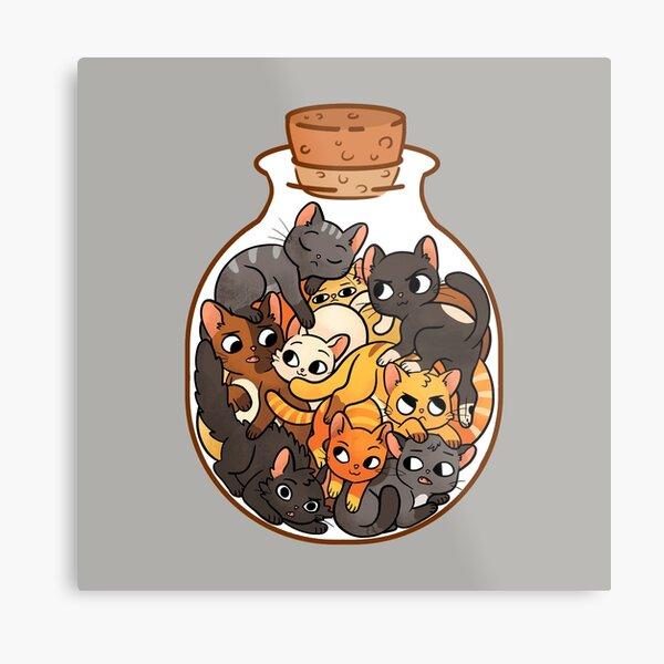Bottle of Cats Metal Print