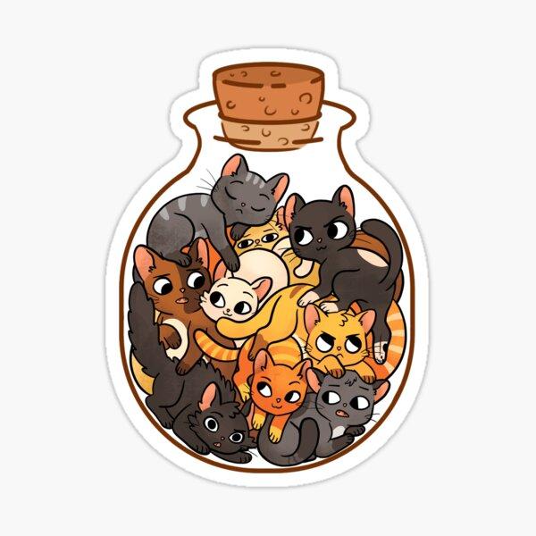Bottle of Cats Sticker
