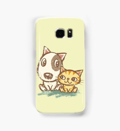 Dog and cat with good relations Samsung Galaxy Case/Skin