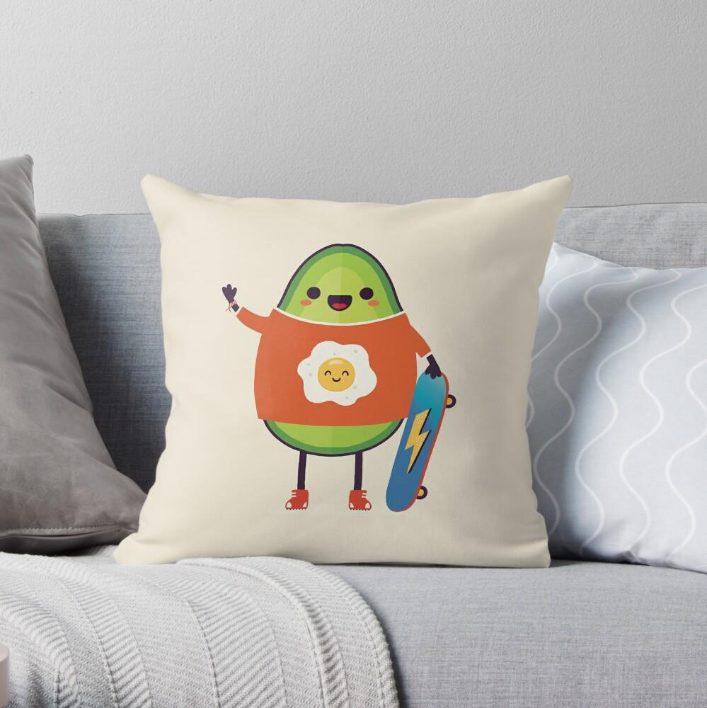 Avo-Kiddo Throw Pillow