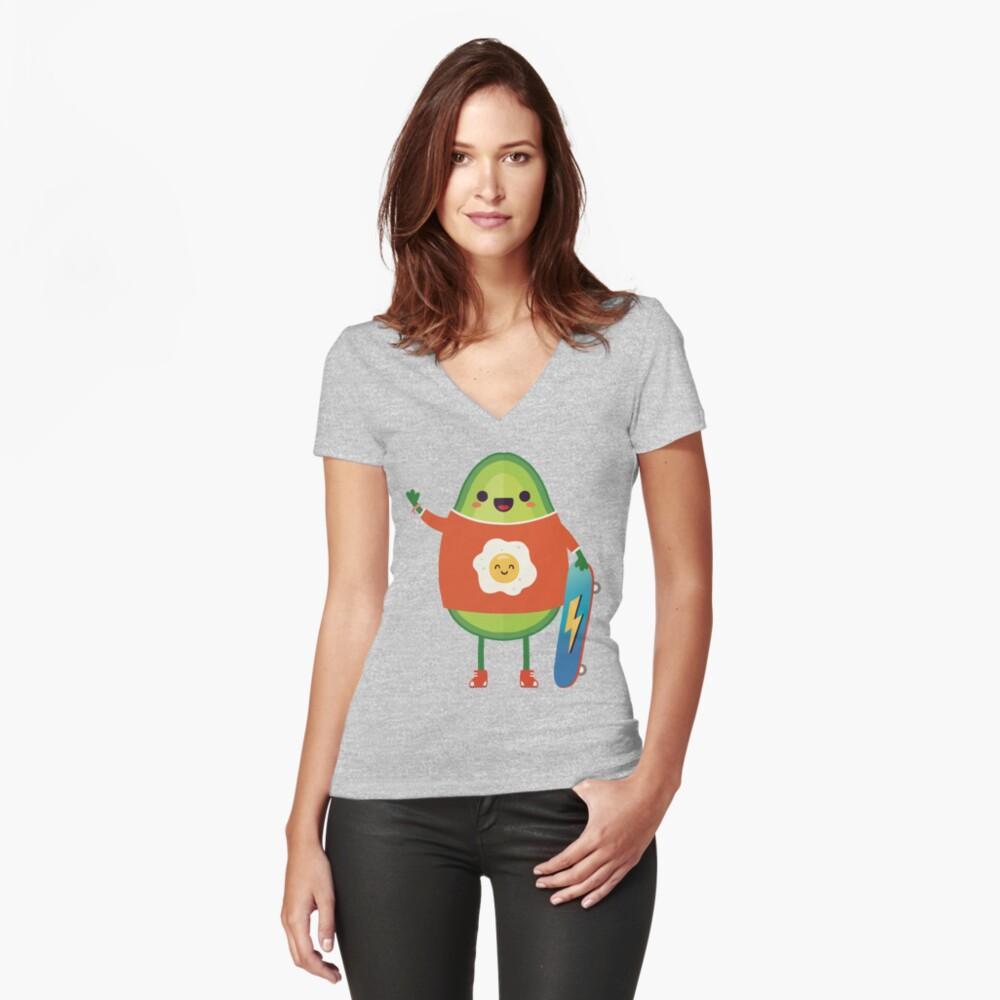 Avo-Kiddo Fitted V-Neck T-Shirt