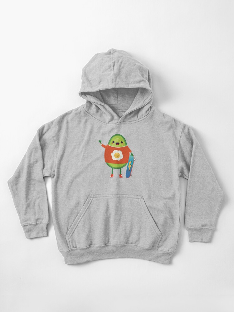 Fleece Pull Over Sweatshirt for Boys Girls Kids Youth Avocado Unisex Toddler Hoodies