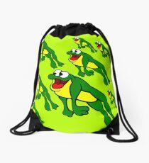 Leap Frogs Drawstring Bag