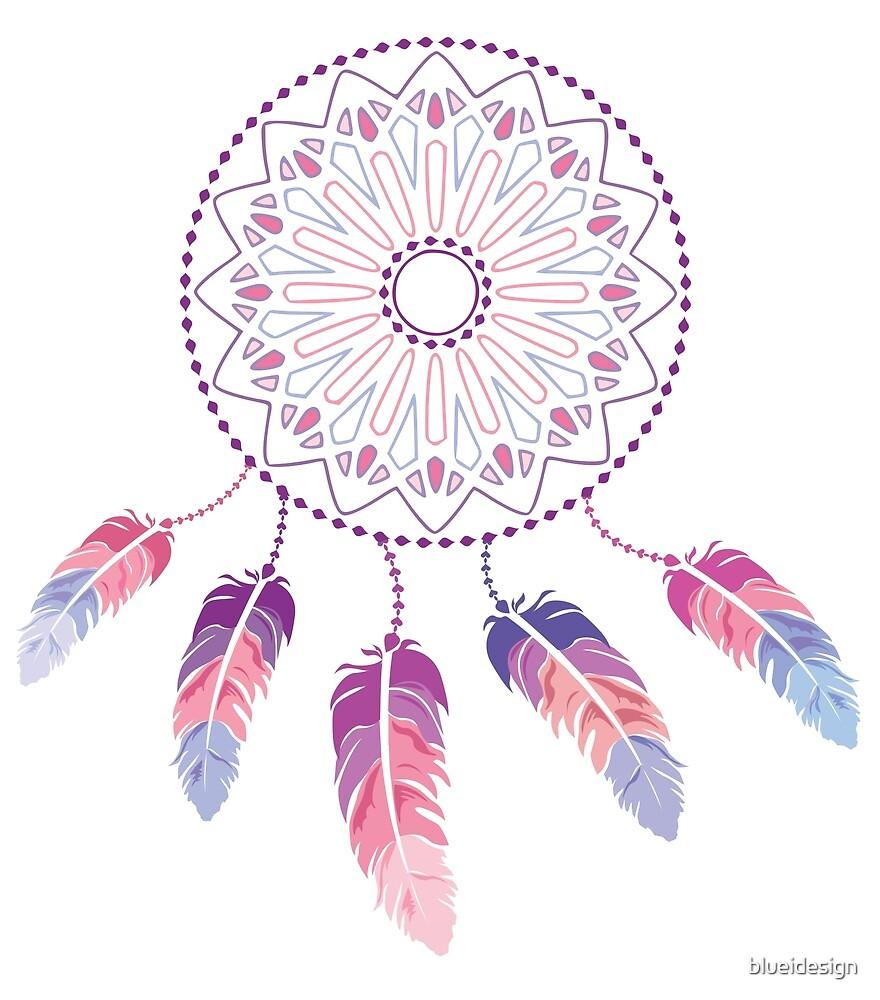 Dreamcatcher Feathers Boho Mandala by blueidesign