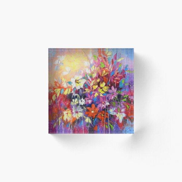 Dance of flowers Acrylic Block