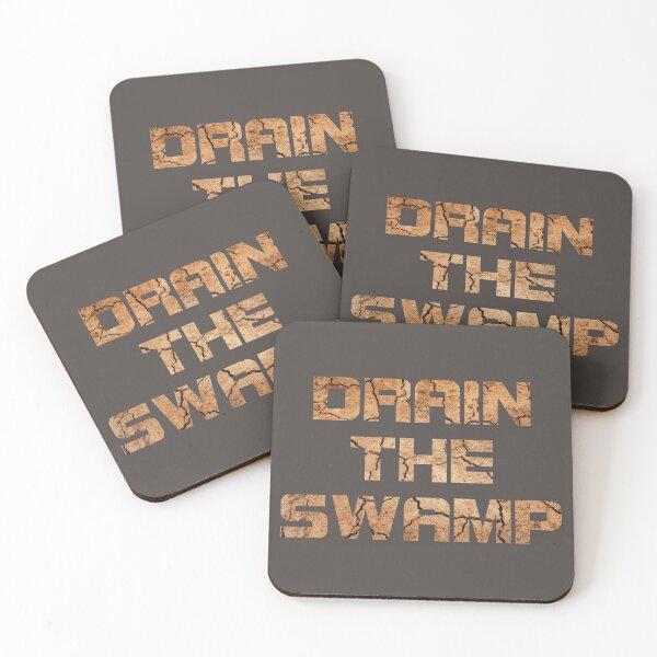 Drain the swamp Untersetzer (4er Set)