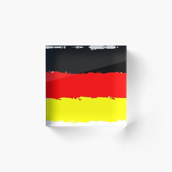Deutschland Flagge Acrylblock