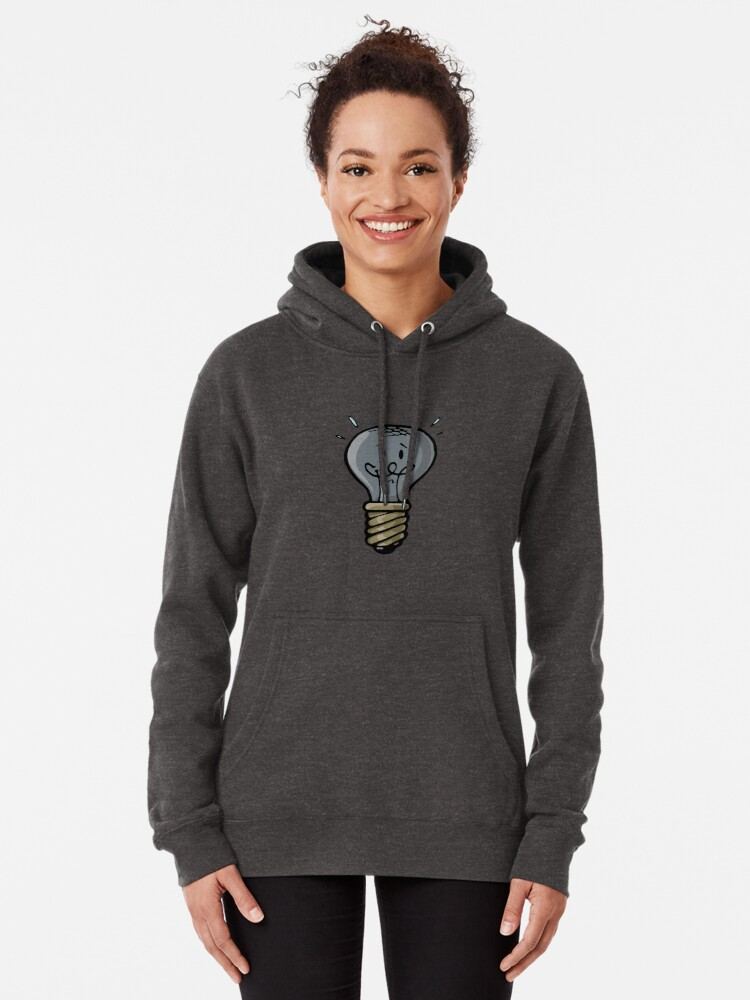 Alternate view of old burned out light bulb Pullover Hoodie