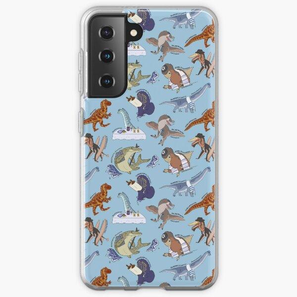 Mesozoic Jews Pattern - Light Blue Samsung Galaxy Soft Case