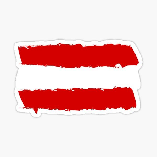 Österreich Flagge Sticker