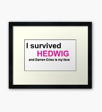 I Survived Hedwig (Darren Criss) Framed Print