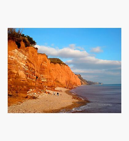 The Red Cliffs of Sidmouth Photographic Print