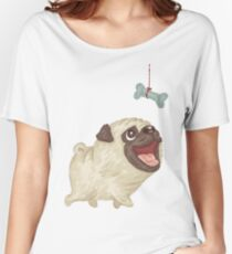 Happy Pug and bone Women's Relaxed Fit T-Shirt