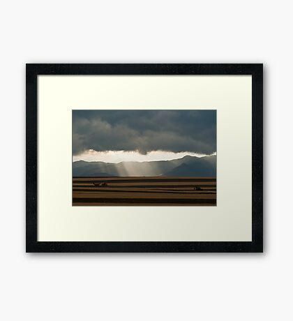 Summer Storm On The Colorado Plains Framed Print