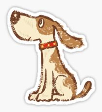 Hound sitting Sticker