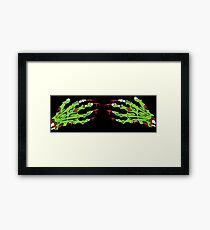 Zombie hands Framed Print