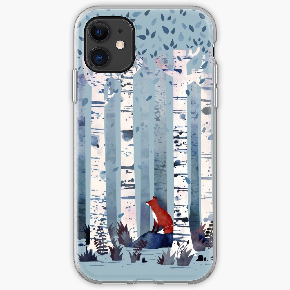 The Birches (in Blue) iPhone Case & Cover