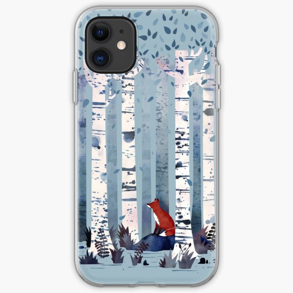 The Birches (in Blue) iPhone Soft Case
