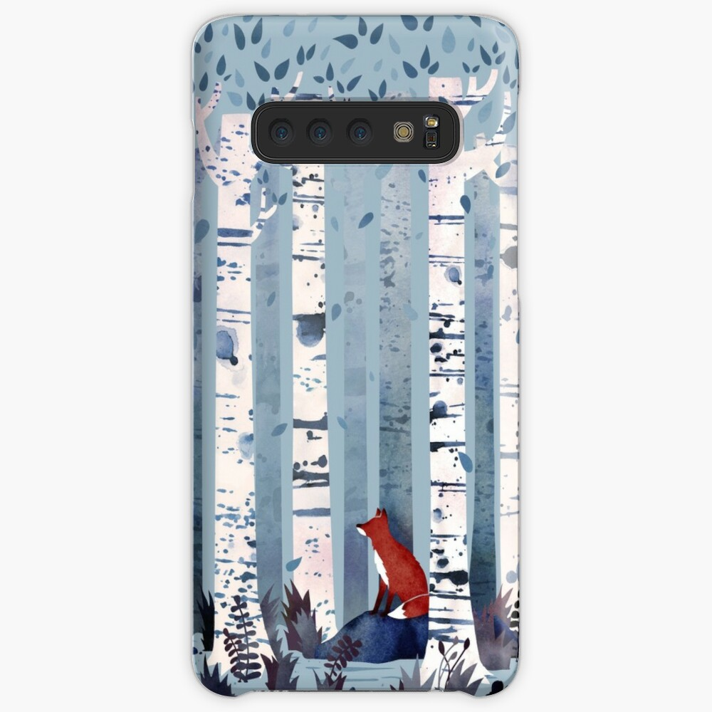 The Birches (in Blue) Case & Skin for Samsung Galaxy
