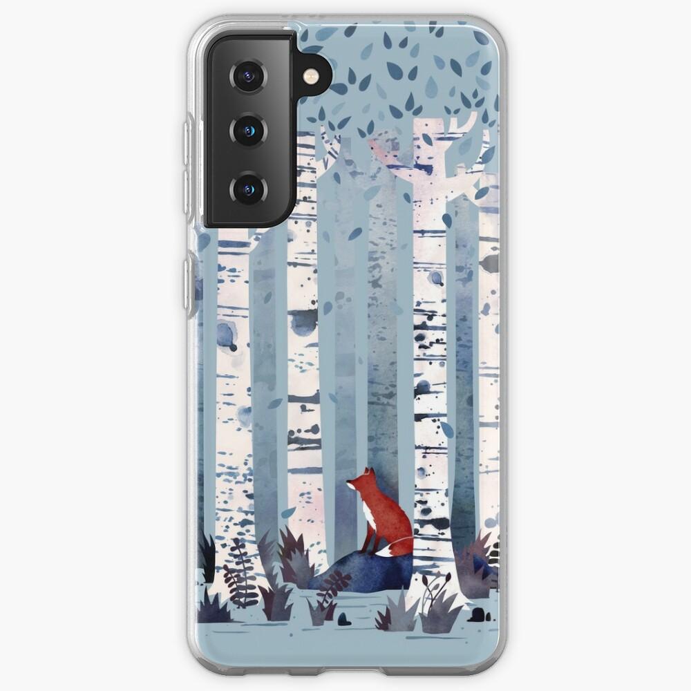 The Birches (in Blue) Case & Skin for Samsung Galaxy