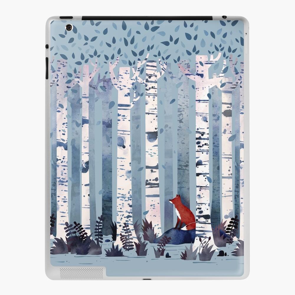 The Birches (in Blue) iPad Case & Skin