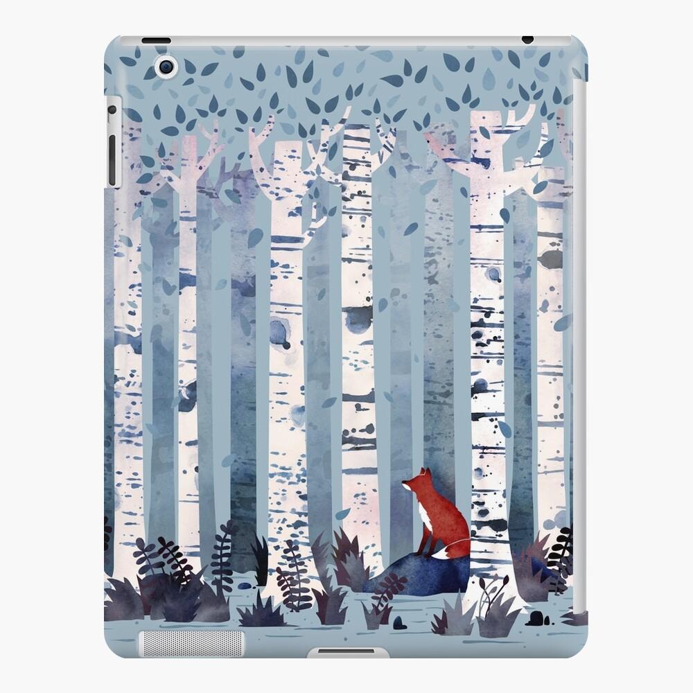 Die Birken (in Blau) iPad-Hülle & Skin