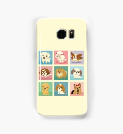 Many poses of puppies Samsung Galaxy Case/Skin