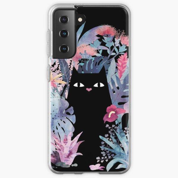Popoki (Pastel Black Velvet) Samsung Galaxy Soft Case