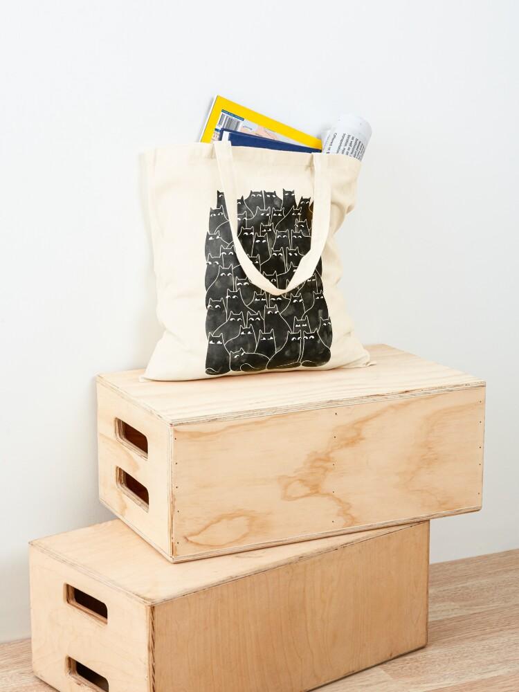 Alternate view of Suspicious Cats Tote Bag