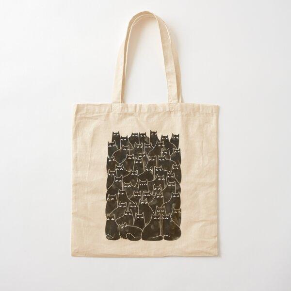 Suspicious Cats Cotton Tote Bag