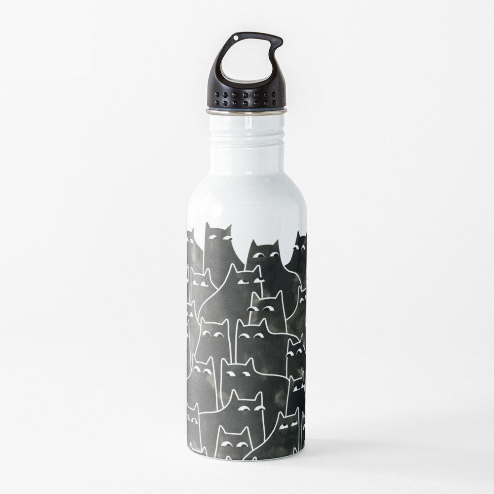 Suspicious Cats Water Bottle