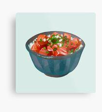 poke bowl Metal Print