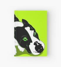 Mr Bull Terrier Green Hardcover Journal
