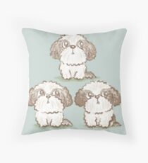 Three Shih Tzu Throw Pillow