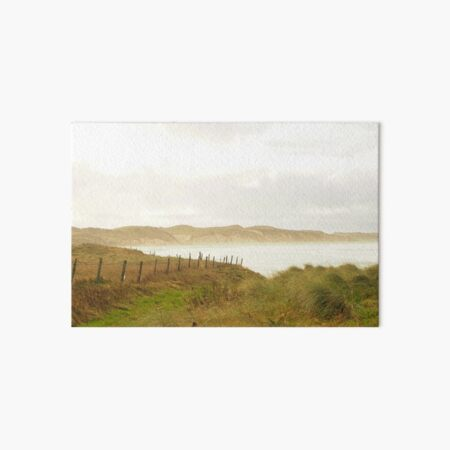Dunnet Beach on a cloudy day Art Board Print