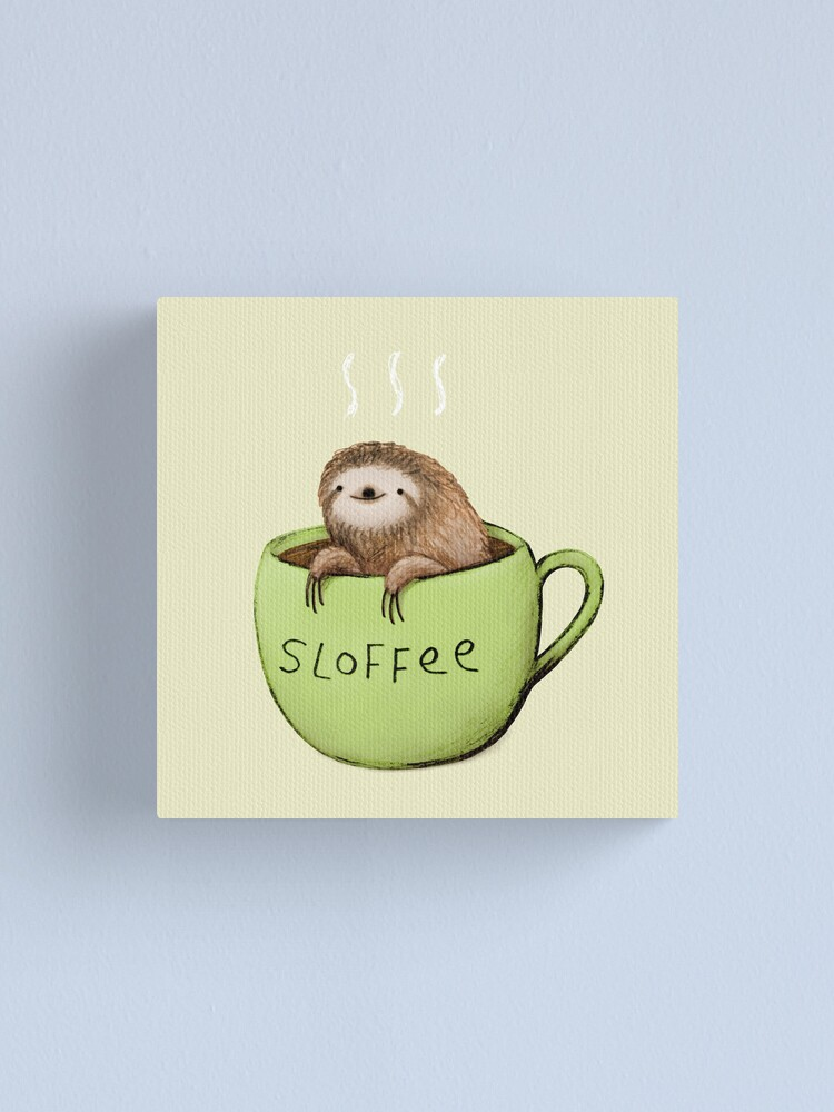 Alternate view of Sloffee Canvas Print