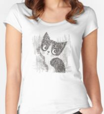 Portrait of a kitten Women's Fitted Scoop T-Shirt